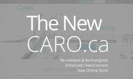The New CARO.ca online store information website.