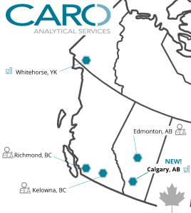 CARO Locations Across Western Canada